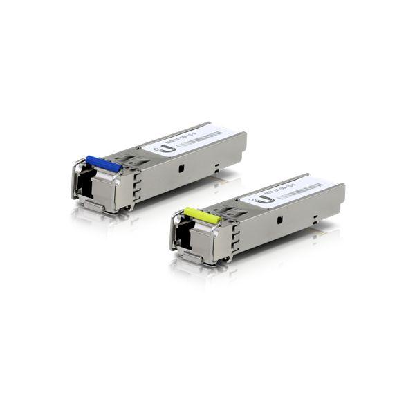 TRANSCEPTOR UBIQUITI FIBRA OPTICA SFP 1550nm 1250Mbit/s UF-SM-1G-S