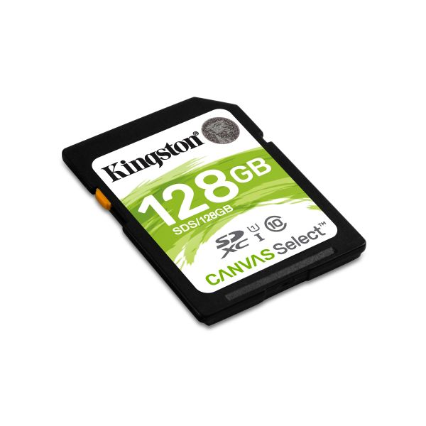 MEMORIA SD KINGSTON CANVAS SELECT 128GB SDXC UHS-I CLASE10 SDS/128GB