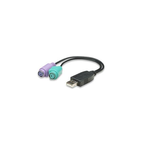 CONVERTIDOR MANHATTAN USB A PS2 2PTOS 179027