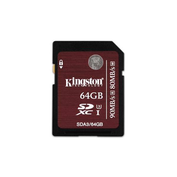 MEMORIA SD KINGSTON CLASE 10 64GB COLOR CEREZA (SDA3/64GB)