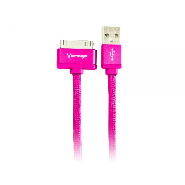 CABLE VORAGO CAB-118 USB-APPLE DOCK 1 METRO ROSA BOLSA