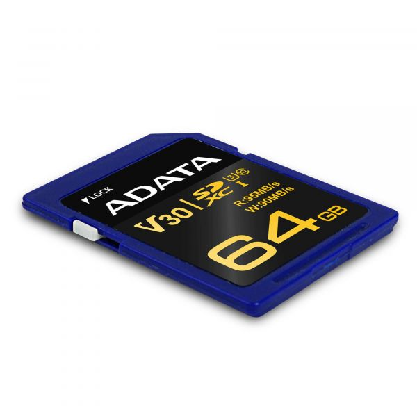 MEMORIA SD ADATA SDXC UHS-I U3 64 GB AZUL