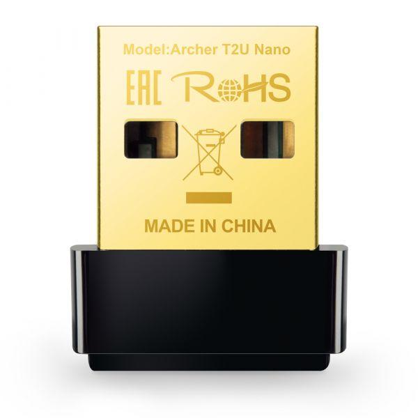 ADAPTADOR INALAMBRICO TP-LINK USB 2.0 AC600 DUALBAND ARCHER T2