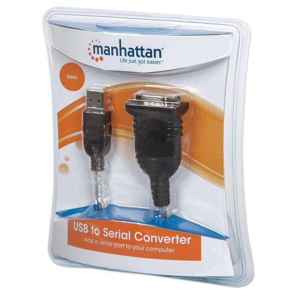 CONVERTIDOR MANHATTAN USB A SERIAL DB9M 205146
