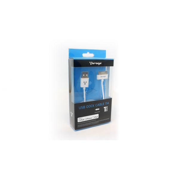 CABLE USB APPLE 30 PINES CAB-114 VORAGO BLANCO 1.5 METROS