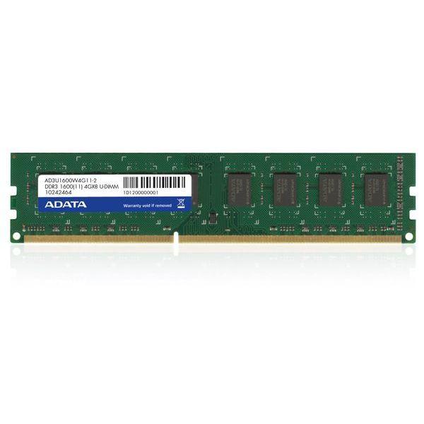 MEMORIA DDR3 ADATA 4GB  1600Mhz UDIMMM (AD3U1600W4G11-S)