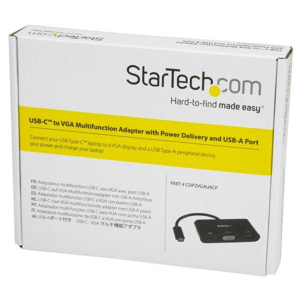 STARTECH ADAPT. MULTIFUNCION USBC -VGA 3USB 3.0 -VGA CDP2VGAUACP