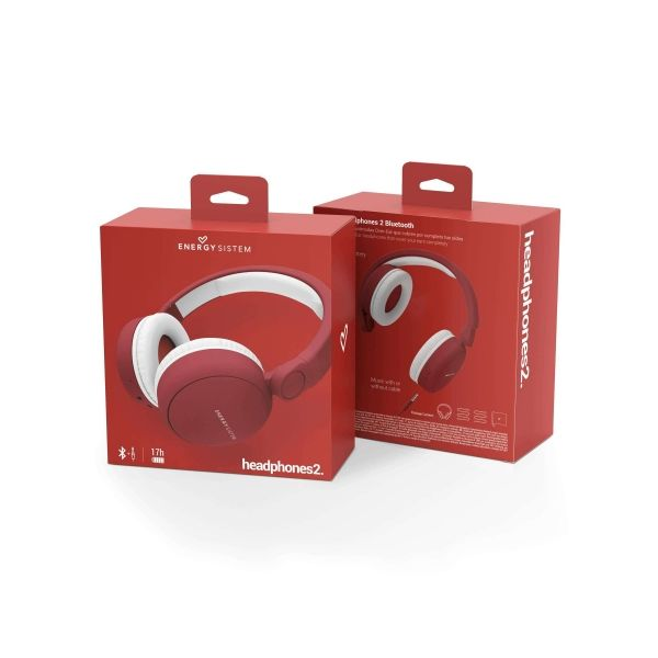 AUDIFONOS BLUETOOTH ENERGY SISTEM EY-445790 ROJO BLUETOOTH 93 ± 3 DB