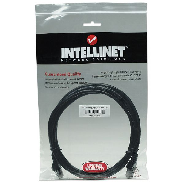 CABLE PATCH INTELLINET CAT-6, 2.0 MTS (7.0F) UTP NEGR (342063)
