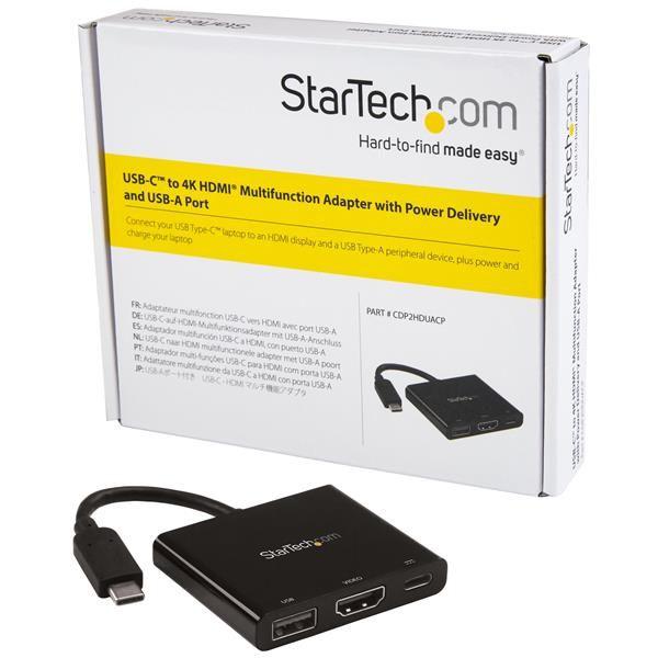 STARTECH ADAPTADOR MULTIFUNCION USBC-4K USBA,HDMI MAC,PC CDP2HDUACP