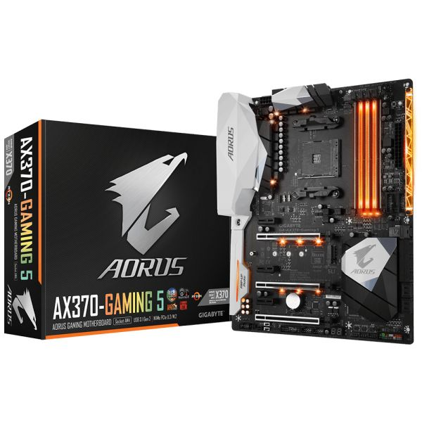 Aorus GA-AX370-Gaming K5 AMD X370 (Socket AM4) DDR4 ATX Motherboard