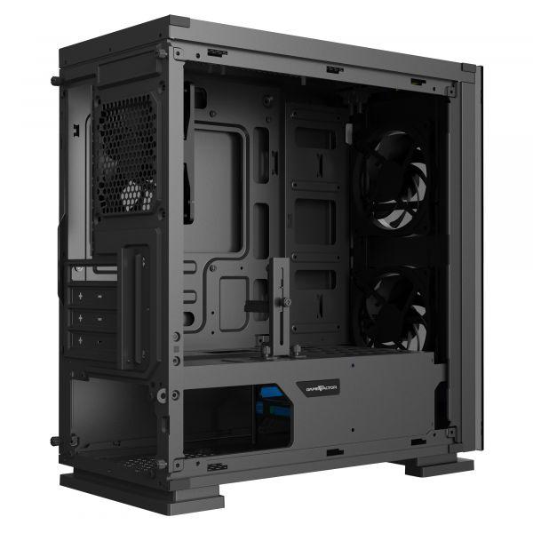 GABINETE GAME FACTOR CSG550 MICRO ATX 3 VENT RGB CRISTAL SFTE