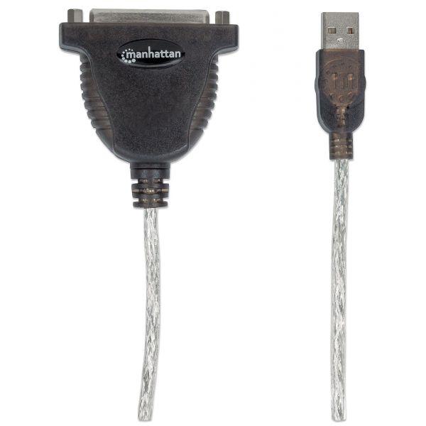 CONVERTIDOR MANHATTAN USB A PARALELO DB25 336581