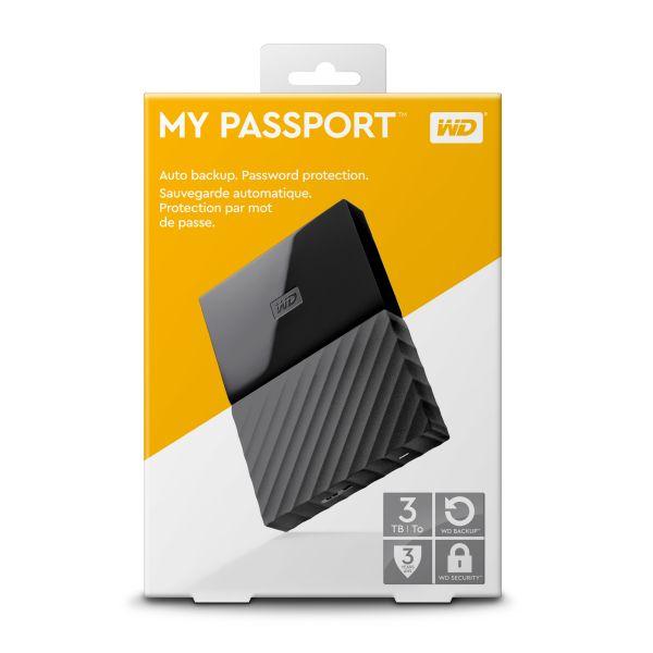 DISCO DURO PORTATIL MY PASSPORT WESTERN DIGITAL 3TB USB 3.0 NEGRO