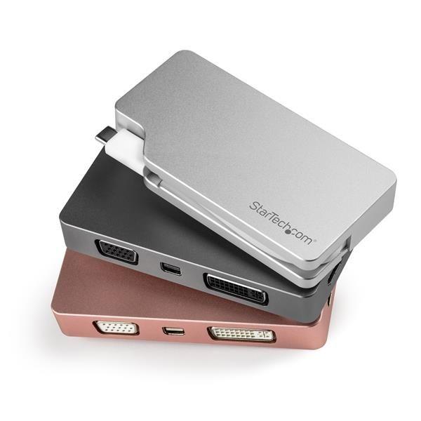 ADAPTADOR 4 EN 1 STARTECH DE AUDIO Y VIDEO USB-C A VGA/DVI/HDMI