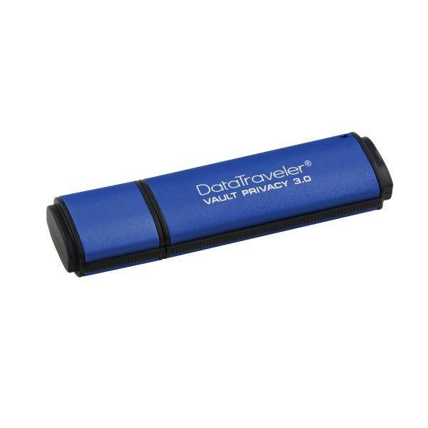 MEMORIA USB KINGSTON DTVP30 32GB USB 3.0 ENCRIPTACIÓN AES AZUL