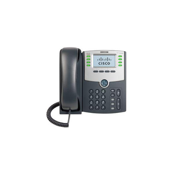 TELEFONO IP CISCO 8 LINEAS CON PANTALLA SPA508G PoE PC 2X RJ-45 NEGRP