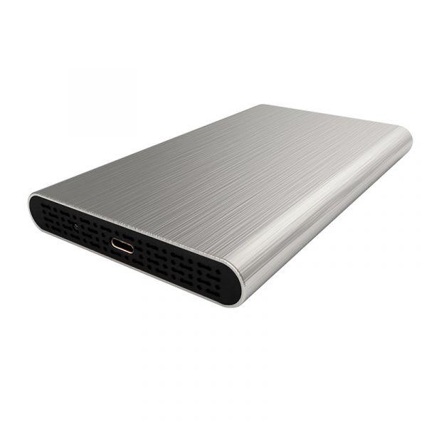 GABINETE DE DISCO DURO GETTTECH HDD 2.5 USB 3.1 PLATA (EGC-2530)