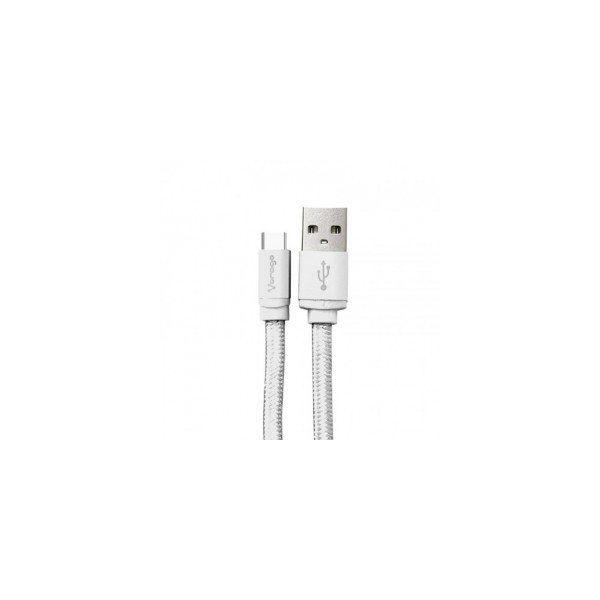 CABLE USB TIPO C VORAGO CAB-123 CARGA RAPIDA 1M BLANCO