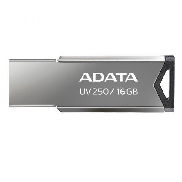 MEMORIA FLASH ADATA UV250 16GB USB 2.0 PLATA (AUV250-16G-RBK)