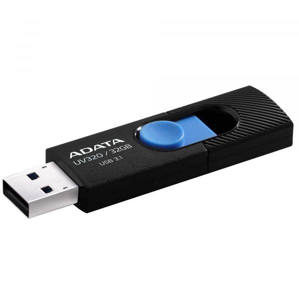 MEMORIA FLASH ADATA UV320 32GB USB3.1 NEGRO/AZUL AUV320-32G-RBKBL