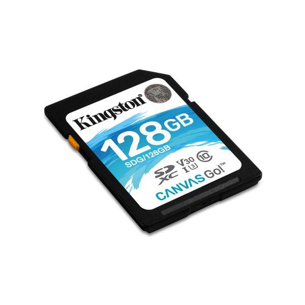 MEMORIA SD KINGSTON CANVAS GO! 128GB SDXC UHS-I CLASE10 SDG/128GB