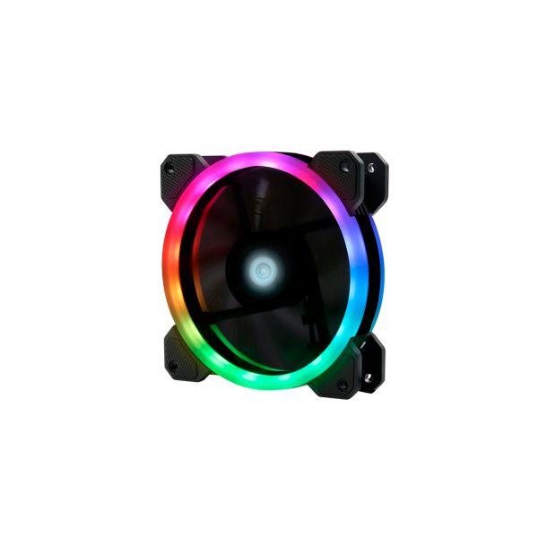 KIT DE 3 VENTILADORES GAMER GAME FACTOR 120MM RGB FKG400