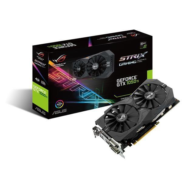 TARJETA DE VIDEO ASUS STRIX-GTX1050TI-4G-GAMING 4GB DDR5 DVI/HDMI/DPOR