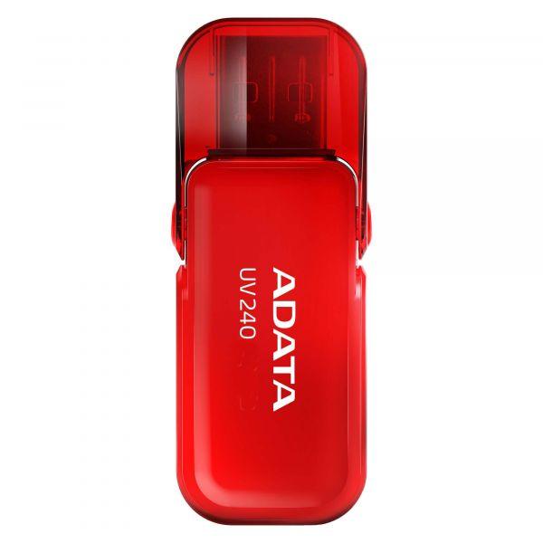 MEMORIA USB FLASH 2.0 ADATA UV240 16GB ROJO AAUV240-16G-RRD