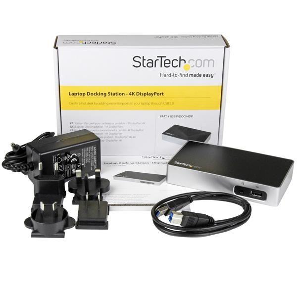 STARTECH REPLICADOR PUERTOS DISPLAYPORT A USB 3.0 RJ45 USB3VDOCK4DP
