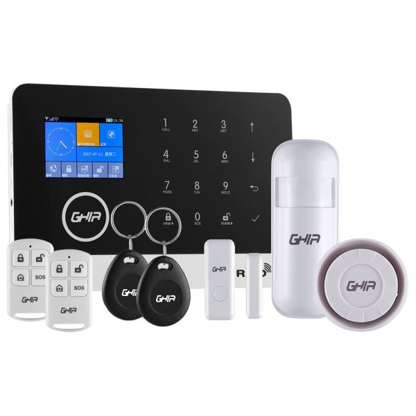 KIT DE ALARMA GHIA GAL-001 CON PANEL TOUCH,WIFI/GSM/3G