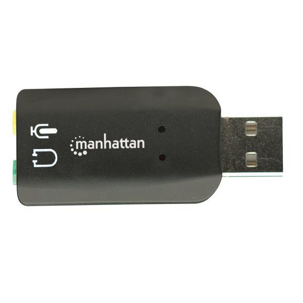 CONVERTIDOR MANHATTAN USB 2.0 A TARJETA SONIDO 5.1 150859