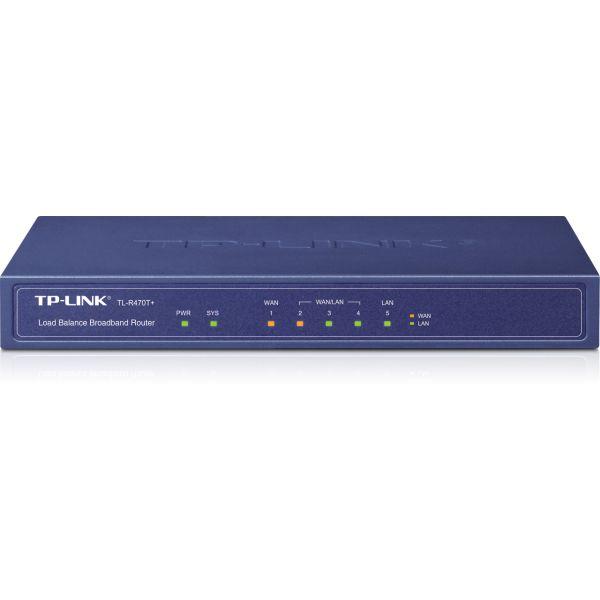 TP-LINK ROUTER BALANCEADOR DE CARGAS 100Mbit/s GRIS (TL-R470T+)