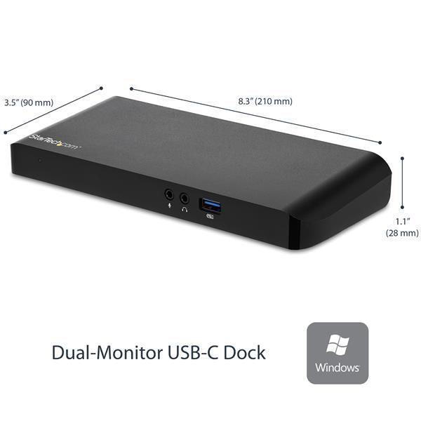 STARTECH REPLICADOR DE PUERTOS USB-C 2 SALIDAS VIDEO RJ45 MST30C2DPPD