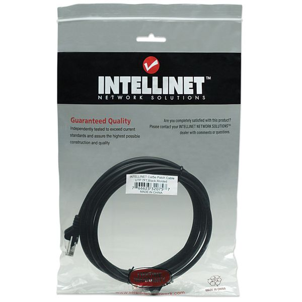 CABLE PATCH INTELLINET 2.0 MTS (7.0F) CAT 5E UTP NEGR 320757