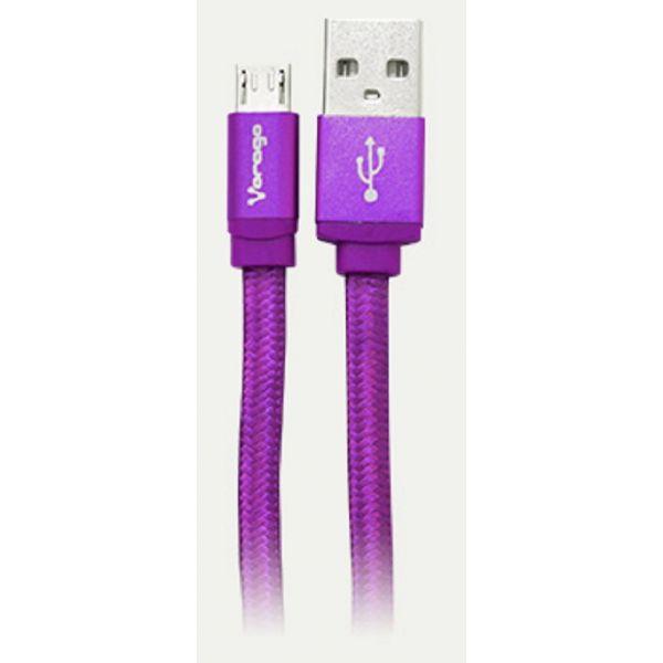 CABLE USB VORAGO CAB-107 MORADO USB 2 A MICRO USB 1.0 METROS BLISTER