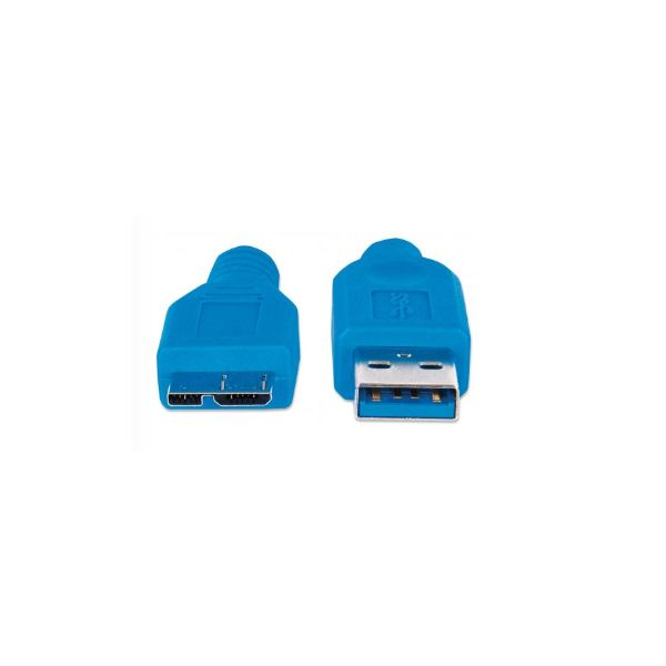 CABLE MANHATTAN USB 3.0 A MACHO - MICRO B MACHO 2.0M AZUL 325424