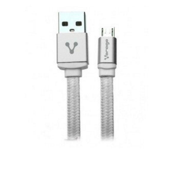 CABLE USB VORAGO CAB-113 BLANCO USB 2 A MICRO USB 1.0 METROS BOLSA