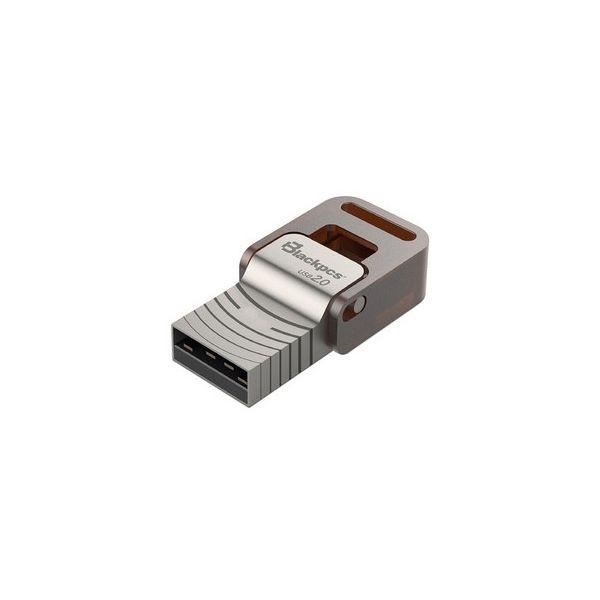 MEMORIA FLASH OTG BLACKPCS 201 32GB USB 2.0 COLOR GRIS (MO2O1-32)