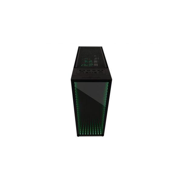 GABINETE GAMER GAME FACTOR CSG601 INFINITY RGB ATX SIN FUENTE