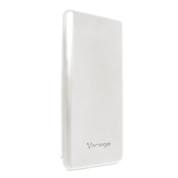 POWER BANK VORAGO PB-401 10,000 MAH 2 PUERTO USB 1.0A 2.1 BLANCO