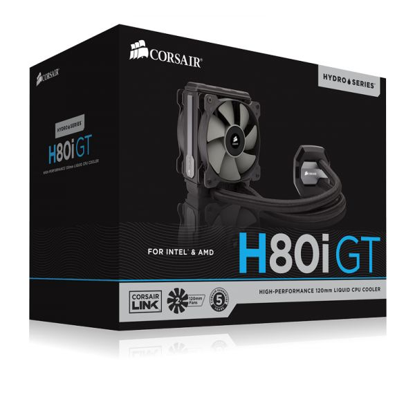 VENTILADOR CPU CORSAIR H80i GT HYDRO HIGH PERFORMANCE 120MM