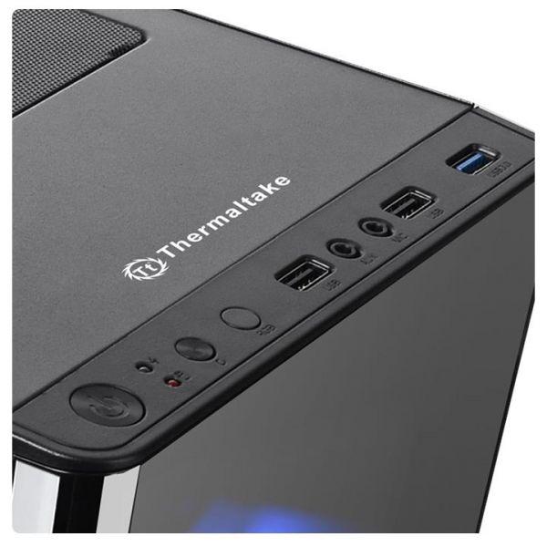 GABINETE TMK V200 THERMALTAKE MIDI-TOWER PC SPCC ATX NEGRO
