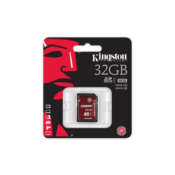 MEMORIA SDH KINGSTON 32GB CLASE 3 COLOR CEREZA (SDA3/32GB)