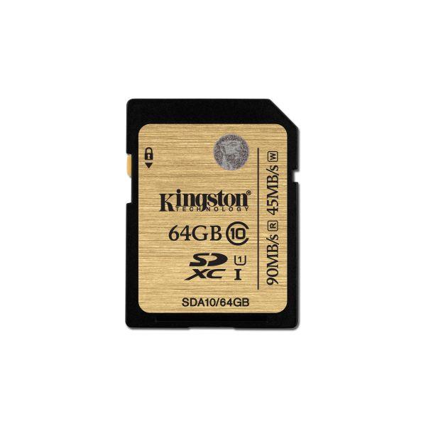 MEMORIA SD KINGSTON CLASE 10 64GB COLOR MARRON (SDA10/64GB)