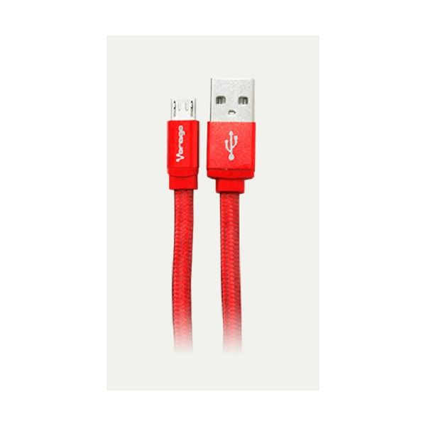 CABLE USB VORAGO CAB-113 ROJO USB 2 A MICRO USB 1.0 METROS BOLSA