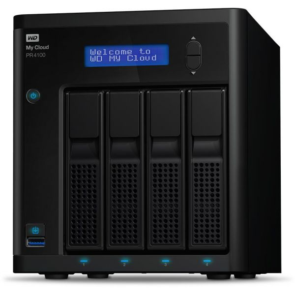 NAS WD CLOUD PR4100 40TB-4 HD DE 10TB 1.6GHZ/4GB/2X ETHERNET/3X USB3