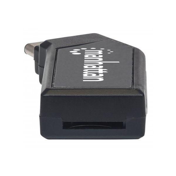LECTOR DE TARJETAS MANHATTAN USB TIPO C 2.0, 24 EN 1 MINI 102001