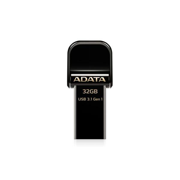 MEMORIA OTG ADATA AI920 32GB USB 3.1 LIGHTNING NEGRA (AAI920-32G-CBK)
