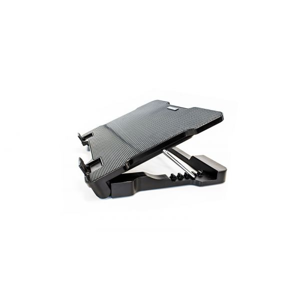 BASE ENFRIADORA VORAGO LAPTOP CP-300 AJUSTABLE HUB 2 USB NEGRO